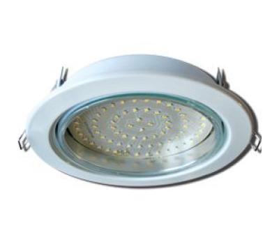Встраиваемый потолочный точечный светильник-спот Ecola GX70 H5 без рефлектора. Белый. Истра