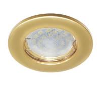 Ecola Light MR16 DL90 GU5.3 Светильник встр. плоский Перламутровое золото 30x80 Истра