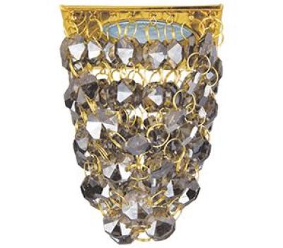 """Ecola MR16 CR1014 GU5.3 Glass Стекло Квадрат """"Хрустальная гроздь"""" Тонированный / Золото 80x80x140 Истра"""