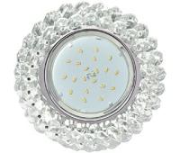 Ecola GX53 H4 Glass Круглый с хрусталиками прозрачный / Хром 56x120 Истра