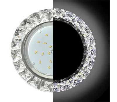 Ecola GX53 H4 LD5361 Glass Круг с крупными стразами Конус с подсветкой/фон зерк./центр.часть хром 52x120 (к+) Истра