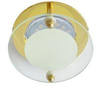Ecola MR16 DL201 GU5.3 Glass Круг со стеклом Прозрачный и Матовый / Золото 45x80 Истра