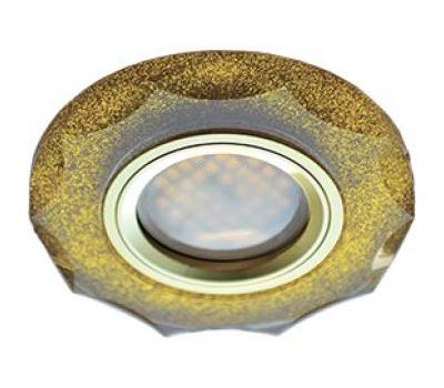 Ecola MR16 DL1653 GU5.3 Glass Стекло Круг с вогнутыми гранями Золотой блеск / Золото 25x90 Истра