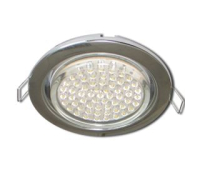Ecola GX53 H4 Downlight without reflector_chrome (светильник) 38x106 - 10 pack Истра