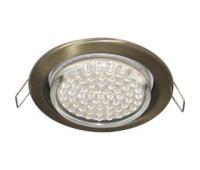 Ecola GX53 H4 светильник встраив. без рефл. чернёная бронза 38х106 - 2 pack Истра
