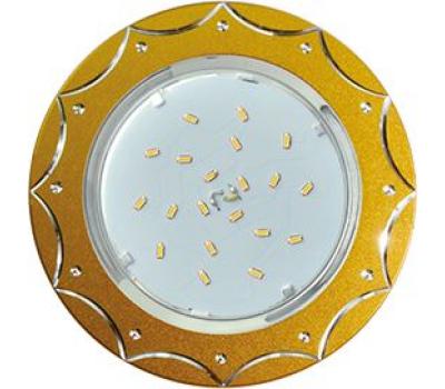Ecola GX53 H4 DL5384  светильник встраив. без рефл. Звезда матовое Золото/Алюм 20x110 (к+) Истра