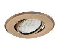 Светильник Ecola MR16 DH09 GU5.3 встр. поворотный плоский (скрытый крепеж лампы) Бронза 25x90 Истра