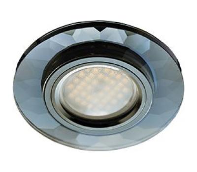 Ecola MR16 DL1654 GU5.3 Glass Стекло Круг граненый Черный / Черный хром 25x90 Истра