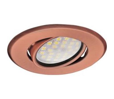 Светильник Ecola MR16 DH09 GU5.3 встр. поворотный плоский (скрытый крепеж лампы) Медь 25x90 Истра