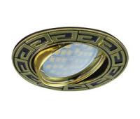 НОВИНКА!Светильник Ecola MR16 DL110 GU5.3 встр. литой поворотный Антик Чёрный хром/Золото 24х86 Истра