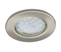 Светильник Ecola Light MR16 DL90 встраиваемый плоский Сатин - Хром 30x80 - 2 pack Истра