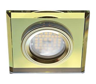 Ecola MR16 DL1651 GU5.3 Glass Стекло Квадрат скошенный край Золото / Золото 25x90x90 Истра