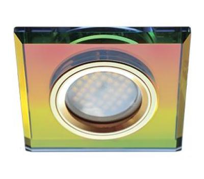 Ecola MR16 DL1651 GU5.3 Glass Стекло Квадрат скошенный край Мультиколор / Золото 25x90x90 Истра