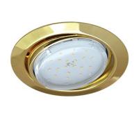 Ecola GX53 FT9073 светильник встраиваемый поворотный золото 40x120 Истра