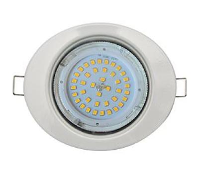 Ecola GX53 FT3238 светильник встр. без рефлектора Эллипс белый 41x126x106 Истра