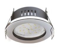 Ecola GX53 H9 защищенный IP65 светильник встраив.  без рефлектора  хром  98*55 Истра