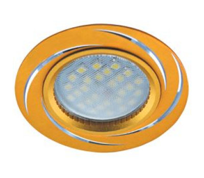 НОВИНКА!Светильник Ecola MR16 DL3181 GU5.3 встр. литой (скрытый крепёж лампы) Вихрь Матовое золото/Алюминий 23х78 Истра