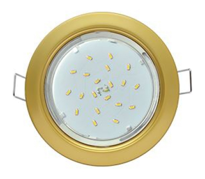 Ecola GX53 H4  светильник встраиваемый без рефлектора  Сатин золото  38x106 Истра
