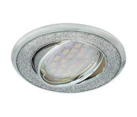 Ecola MR16 DL39S GU5.3 Светильник встр. поворотный Круг под стеклом Серебряный блеск/Хром 26x94 Истра