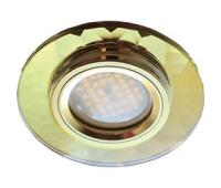 Ecola MR16 DL1654 GU5.3 Glass Стекло Круг граненый Золото / Золото 25x90 Истра