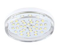 НОВИНКА! Ecola Light GX53 LED  8,0W Tablet 220V 4200K 27x75 прозрачное стекло 30000h Истра
