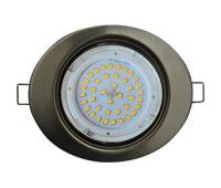 Ecola GX53 FT3238 светильник встр. без рефлектора Эллипс сатин-хром 41x126x106 Истра