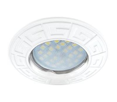 Ecola MR16 DL110А GU5.3 Светильник встр. литой Антик Белый 24x86 Истра
