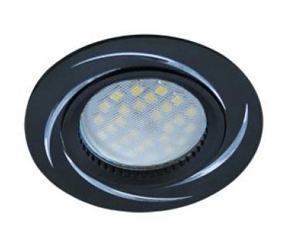 НОВИНКА!Светильник Ecola MR16 DL3181 GU5.3 встр. литой (скрытый крепёж лампы) Вихрь Чёрный/Алюминий 23х78 Истра