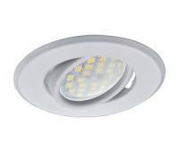 Светильник Ecola MR16 DH09 GU5.3 встр. поворотный плоский (скрытый крепеж лампы) Белый 25x90 Истра
