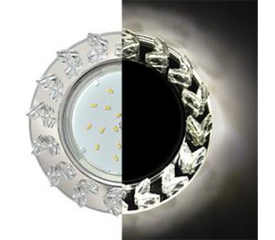 Ecola GX53 H4 LD5361 Glass Круг с крупными  прозр. стразами Елочка с подсветкой/фон зерк./центр.часть хром 54x120 (к+) Истра