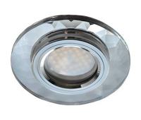 Ecola MR16 DL1654 GU5.3 Glass Стекло Круг граненый Хром / Хром 25x90 Истра