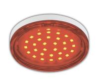 Ecola GX53   LED color  4,4W Tablet 220V Red Красный прозрачное стекло 27x74 Истра