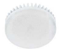 Лампа Еcola GX53   LED 10.0W Tablet 220V 2800K матовое стекло (ребристый алюм. радиатор) 27x75 Истра