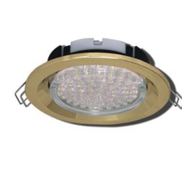 Ecola GX53 FT3225 светильник встраиваемый глубокий лёгкий золото 27x109 Истра