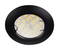 Ecola Light MR16 DL92 GU5.3 Светильник встр. выпуклый Черный матовый 30x80 (кd74) Истра