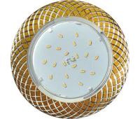 Ecola GX53 H4 DL5381  светильник встраив. без рефл. Сетка матовое Золото/Алюм 20x110 (к+) Истра