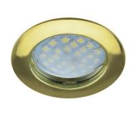 НОВИНКА!Светильник Ecola MR16 DL100 GU5.3 встр. литой Золото 24х75 Истра