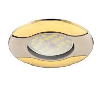 Светильник Ecola MR16 HL029 GU5.3 встр. литой Волна (скрытый крепеж лампы) Сатин-Хром/Золото 22x82 Истра