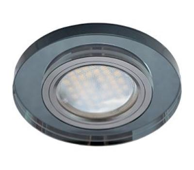 Ecola MR16 DL1650 GU5.3 Glass Стекло Круг Черный / Черный хром 25x95 Истра