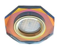 Ecola MR16 DL1652 GU5.3 Glass Стекло 8-угольник с прямыми гранями Мультиколор / Золото 25x90 Истра