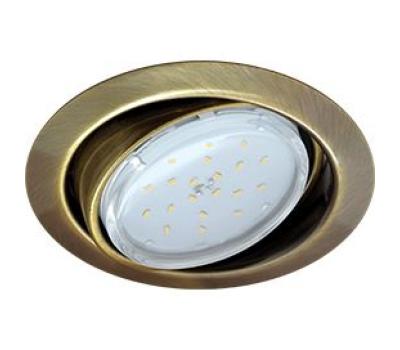 Ecola GX53 FT9073 светильник встраиваемый поворотный черненая бронза (antique brass) 40x120 Истра