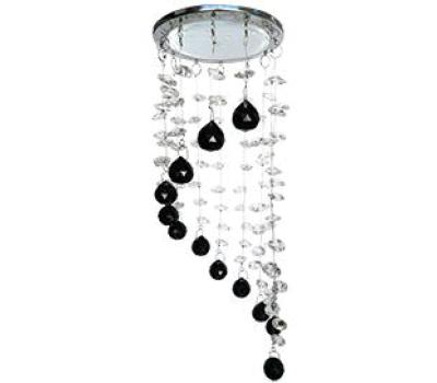 """Ecola GX53 H4 5354 Glass Круг """"Хрустальная нить"""" Прозрачный и Черный / Хром 330x105 (к+) Истра"""