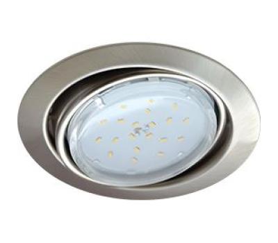 Ecola GX53 FT9073 светильник встраиваемый поворотный сатин-хром 40x120 Истра