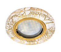 Ecola MR16 DL1650 GU5.3 Glass Стекло Круг Золото на белом / Золото 25x95 (кd74) Истра