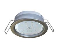 Ecola GX53 PD Светильник Встраиваемый глубокий легкий Серебро31x95 Истра