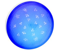 Ecola GX53   LED color  8,0W Tablet 220V Blue Синий матовое стекло (композит) 28x74 Истра