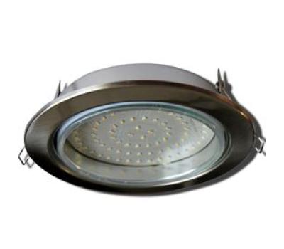 Встраиваемый потолочный точечный светильник-спот Экола GX70 H5 без рефлектора. Сатин-Хром. Истра