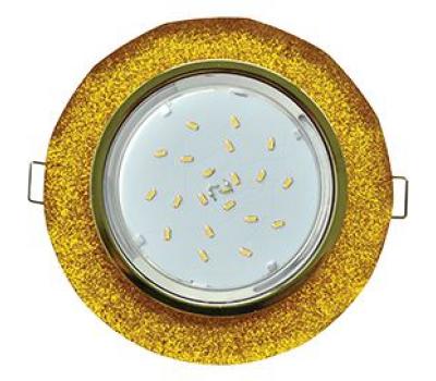 Ecola GX53 H4 Glass Стекло Круг с вогнутыми гранями золото - золотой блеск 38x126 Истра