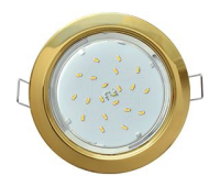 Ecola GX53 H4 Downlight without reflector_gold (светильник) 38x106 Истра