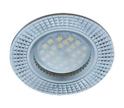 НОВИНКА!Светильник Ecola MR16 DL3182 GU5.3 встр. литой (скрытый крепёж лампы) Рифлёные реснички по кругу Матовый хром/Алюминий 23х78 Истра